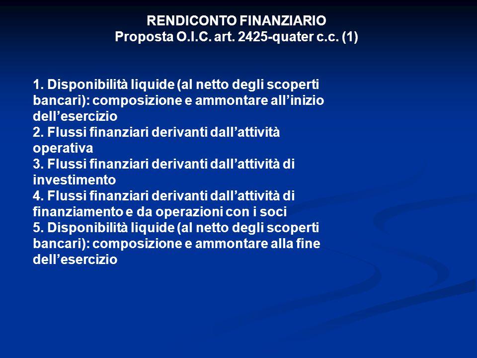 RENDICONTO FINANZIARIO Proposta O.I.C. art. 2425-quater c.c.