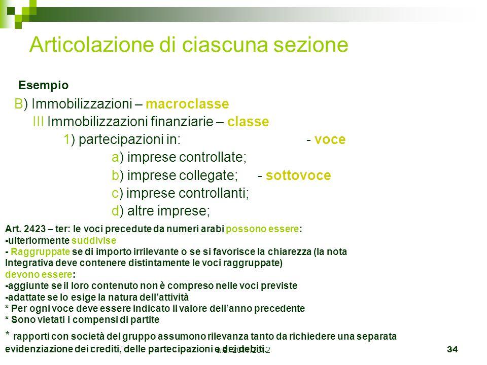a.a.2011/201235 ATTIVO, QUAL'E' IL CRITERIO DI CLASSIFICAZIONE DELLE POSTE.