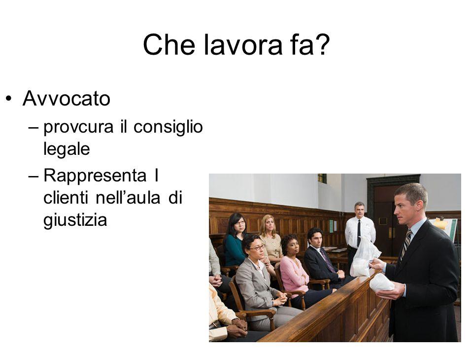 Che lavora fa Avvocato –provcura il consiglio legale –Rappresenta I clienti nell'aula di giustizia