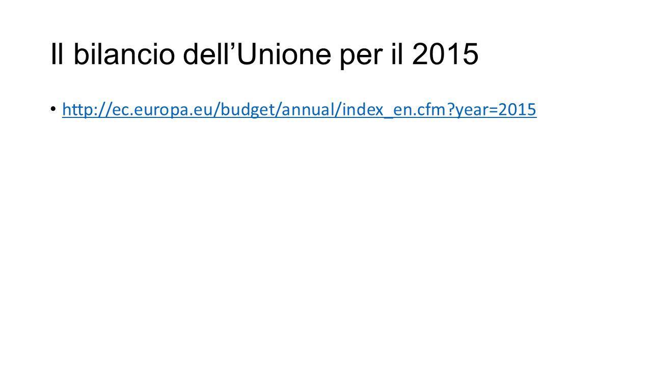 Il bilancio dell'Unione per il 2015 http://ec.europa.eu/budget/annual/index_en.cfm year=2015