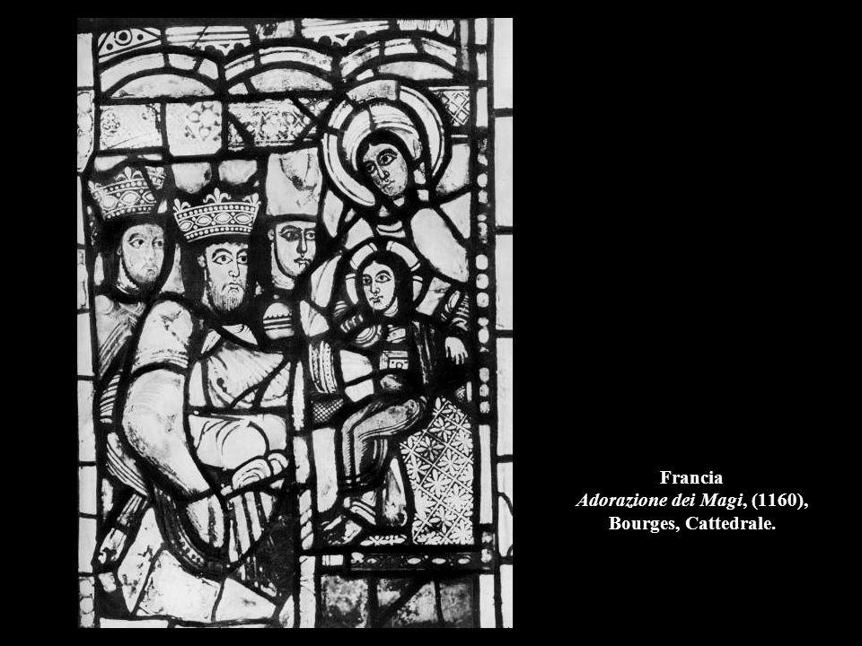 Francia Adorazione dei Magi, (1160), Bourges, Cattedrale.