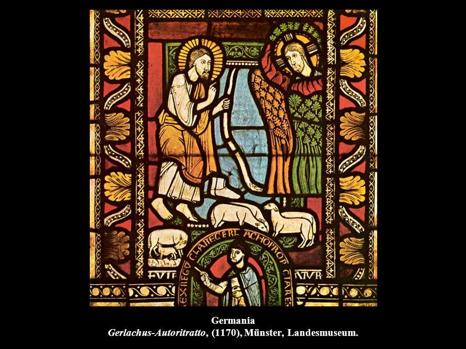 Germania Gerlachus-Autoritratto, (1170), Münster, Landesmuseum.