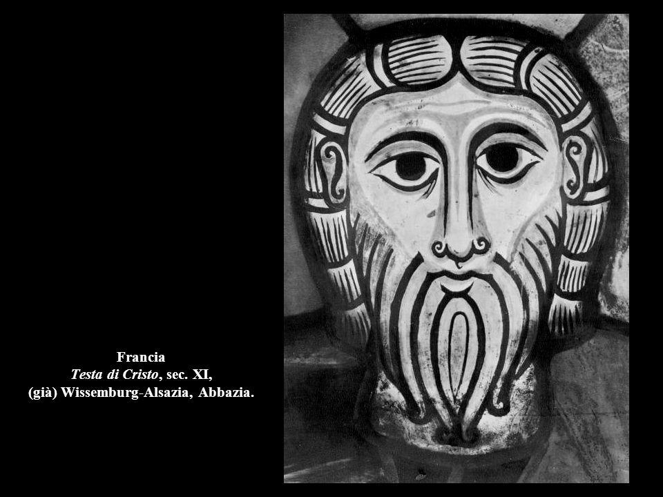 Francia Testa di Cristo, sec. XI, (già) Wissemburg-Alsazia, Abbazia.