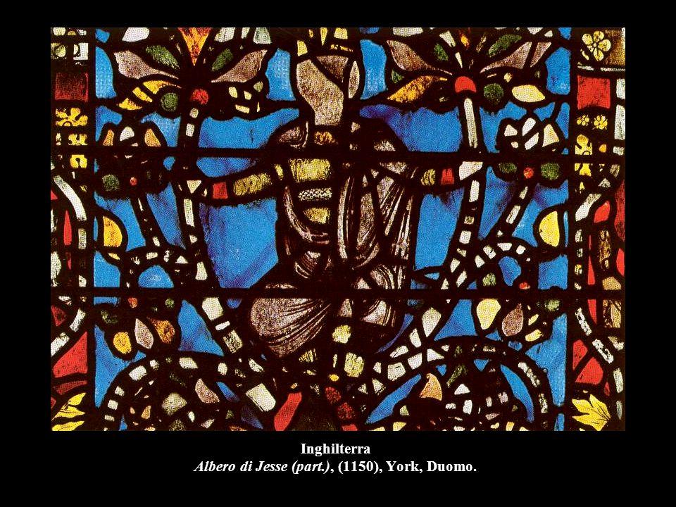 Inghilterra Albero di Jesse (part.), (1150), York, Duomo.