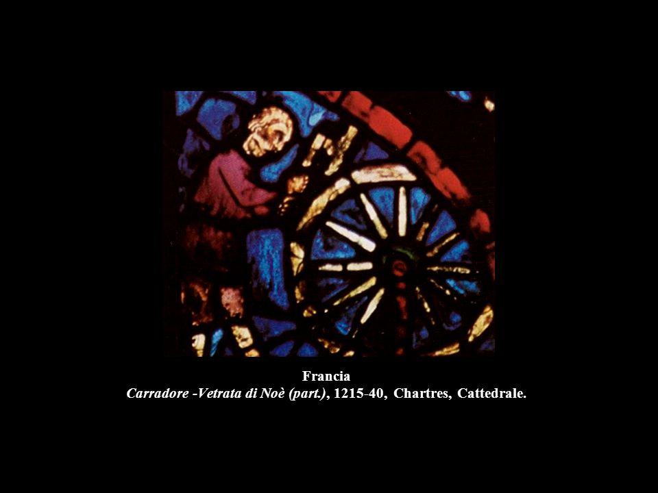 Francia Carradore -Vetrata di Noè (part.), 1215-40, Chartres, Cattedrale.