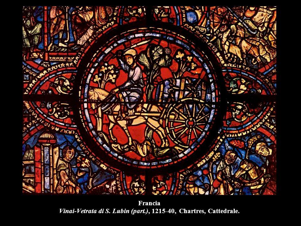 Francia Vinai-Vetrata di S. Lubin (part.), 1215-40, Chartres, Cattedrale.