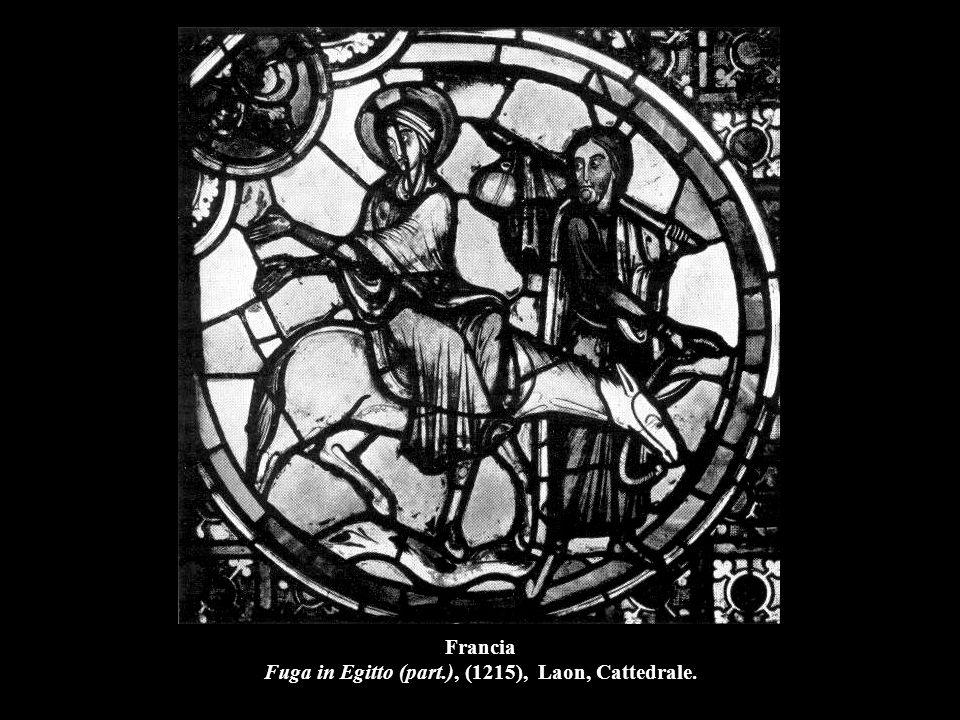 Francia Fuga in Egitto (part.), (1215), Laon, Cattedrale.