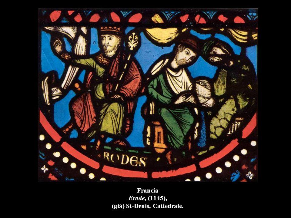 Francia Storia delle Reliquie di S. Stefano e Crocifissione (part.), (1215), Bourges, Cattedrale.