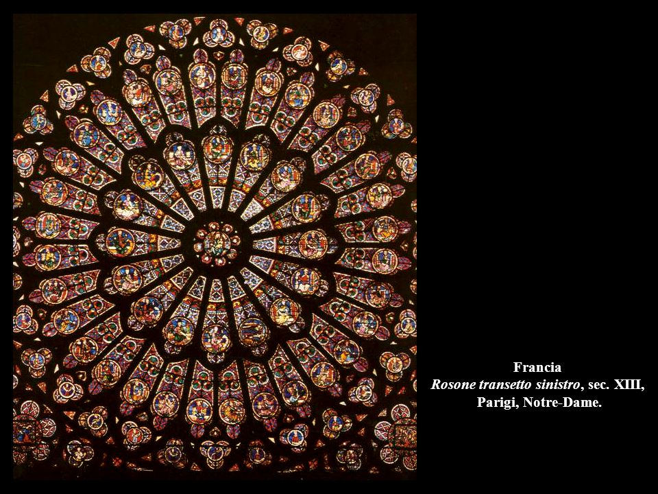 Francia Rosone transetto sinistro, sec. XIII, Parigi, Notre-Dame.