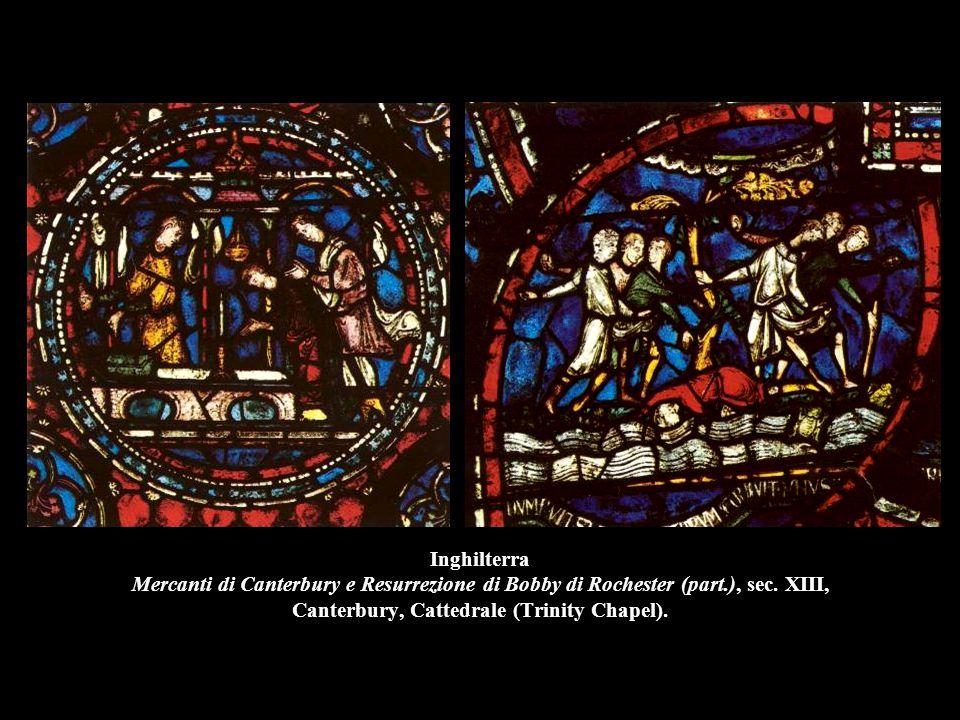 Inghilterra Mercanti di Canterbury e Resurrezione di Bobby di Rochester (part.), sec. XIII, Canterbury, Cattedrale (Trinity Chapel).