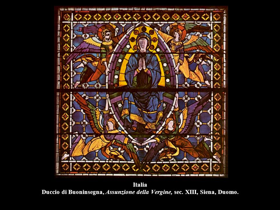 Italia Duccio di Buoninsegna, Assunzione della Vergine, sec. XIII, Siena, Duomo.