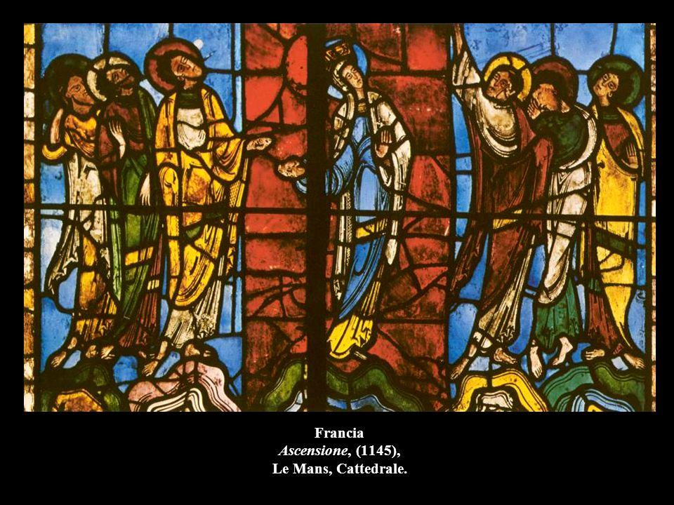Francia Vetrata Morte e Assunzione di Maria, 1215-40, Chartres, Cattedrale.