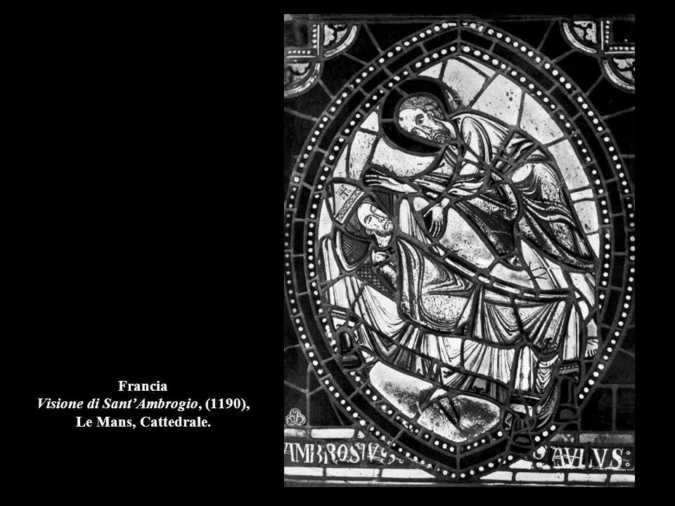 Francia Mercanti di stoffe-Vetrata di S. Giacomo Maggiore (part.), 1215-40, Chartres, Cattedrale.