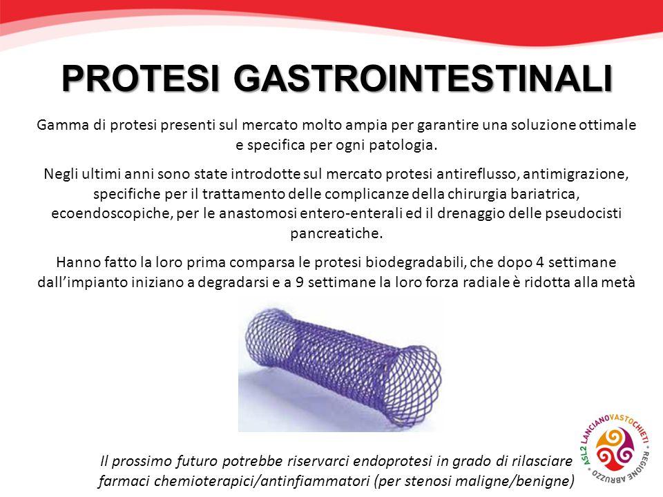Gamma di protesi presenti sul mercato molto ampia per garantire una soluzione ottimale e specifica per ogni patologia. Negli ultimi anni sono state in