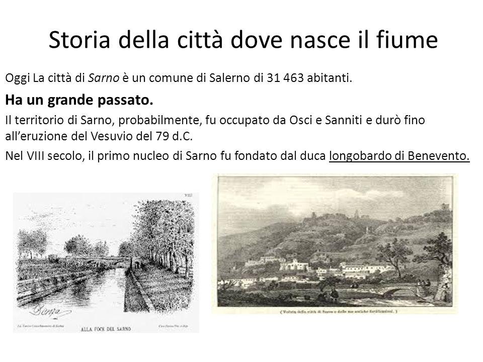 Storia della città dove nasce il fiume Oggi La città di Sarno è un comune di Salerno di 31 463 abitanti. Ha un grande passato. Il territorio di Sarno,