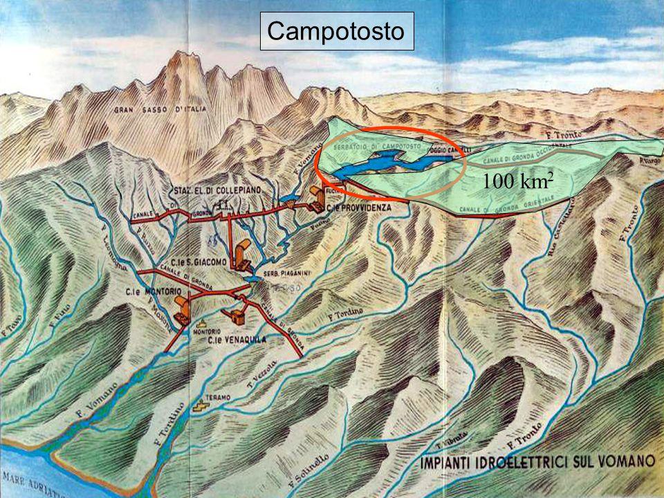 11 Affluenti Campotosto 100 km 2 Campotosto