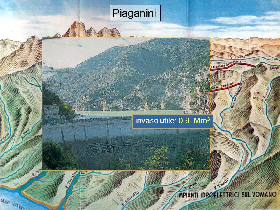14 Piaganini invaso utile: 0.9 Mm 3
