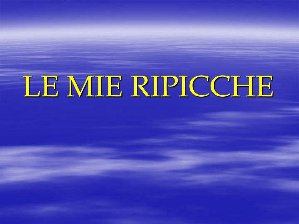 LE MIE RIPICCHE