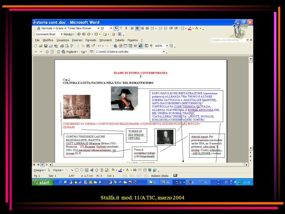 Stulfa.it mod. 11/A TIC, marzo 2004