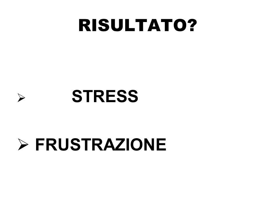 RISULTATO  STRESS  FRUSTRAZIONE