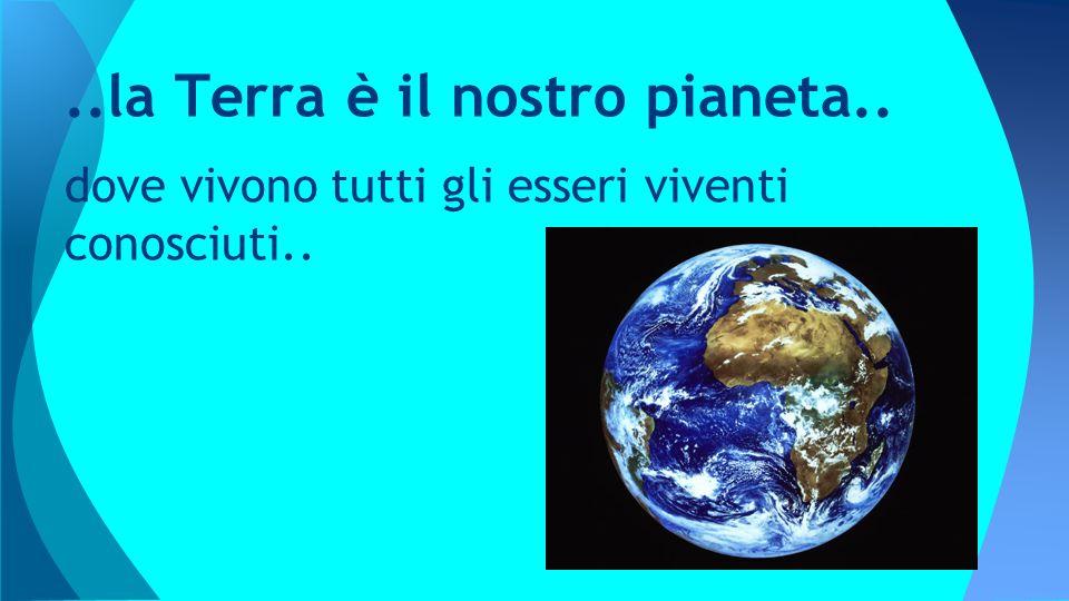 dove vivono tutti gli esseri viventi conosciuti....la Terra è il nostro pianeta..