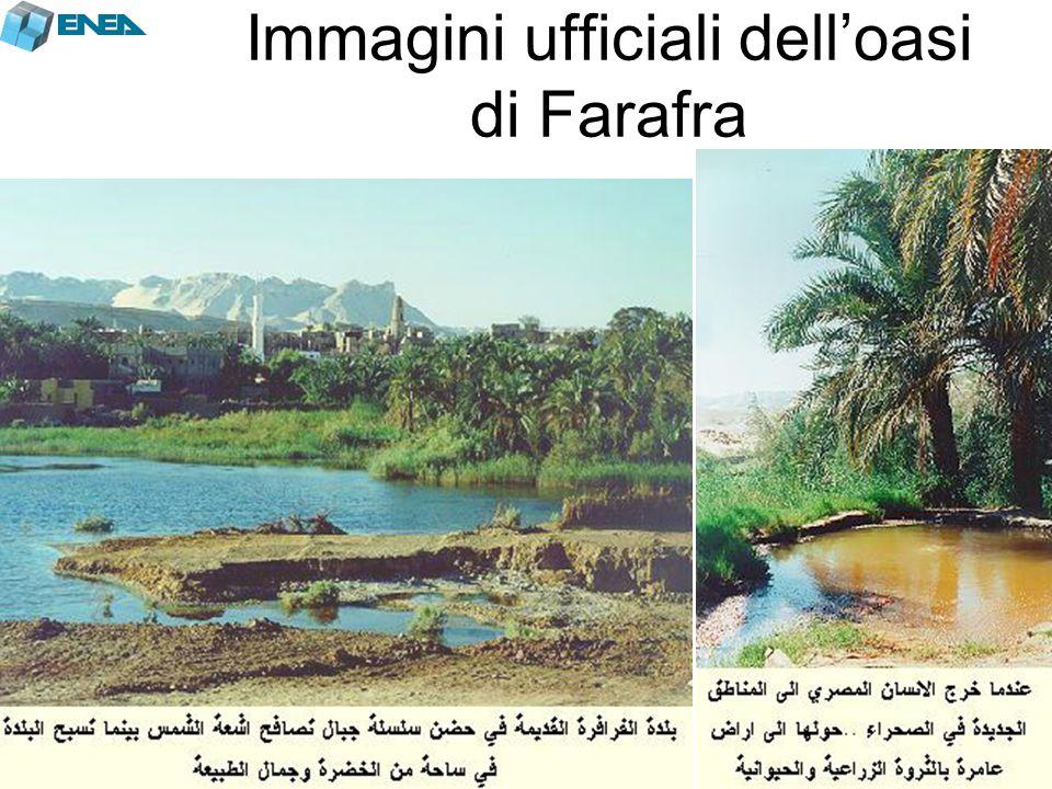 Immagini ufficiali dell'oasi di Farafra