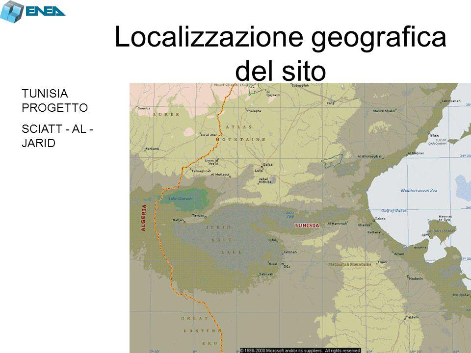 Localizzazione geografica del sito TUNISIA PROGETTO SCIATT - AL - JARID