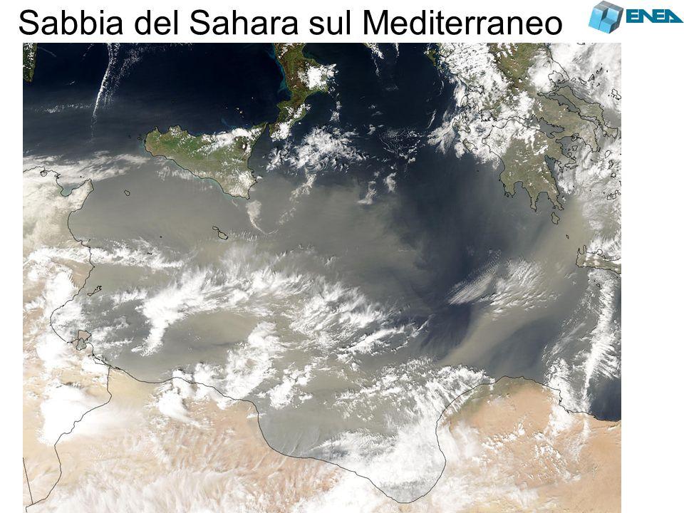 Sabbia del Sahara sul Mediterraneo