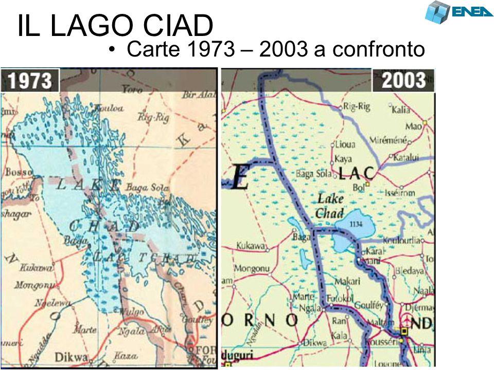 IL LAGO CIAD Carte 1973 – 2003 a confronto