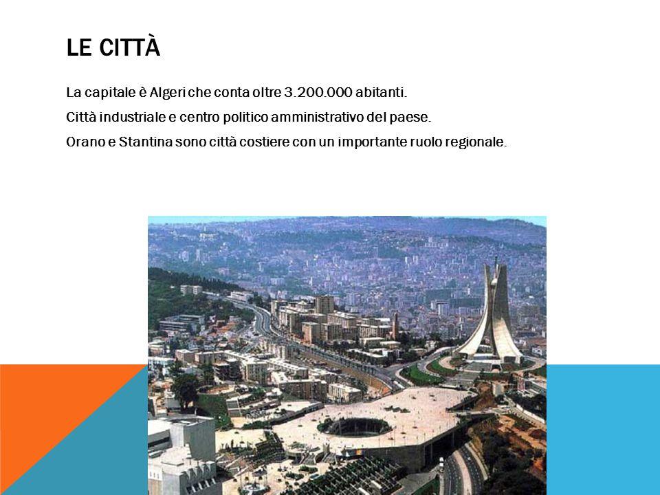LE CITTÀ La capitale è Algeri che conta oltre 3.200.000 abitanti.