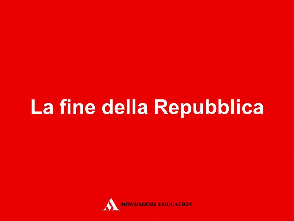 La fine della Repubblica