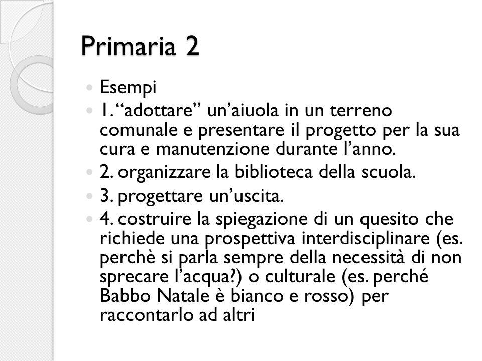 Primaria 2 Esempi 1.
