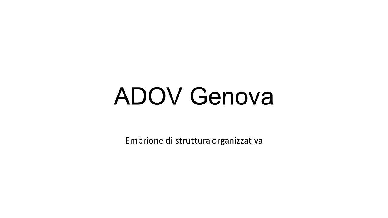 ADOV Genova Embrione di struttura organizzativa