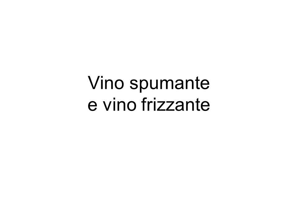 Vino spumante e vino frizzante