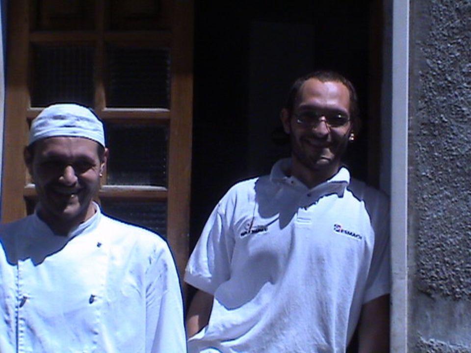Un saluto ai nostri due fornai e si ritorna in classe !