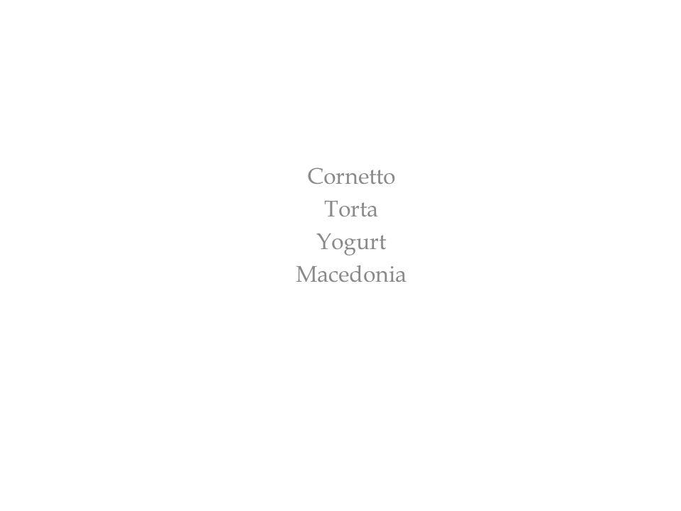 Cornetto Torta Yogurt Macedonia
