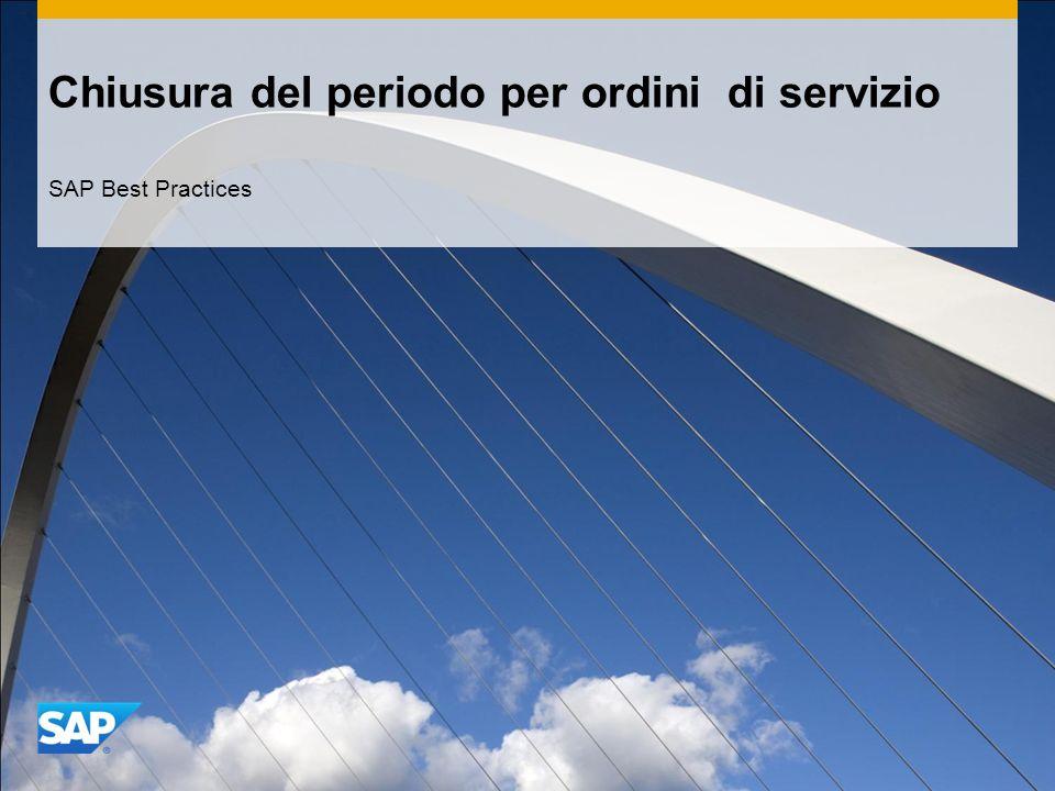 Chiusura del periodo per ordini di servizio SAP Best Practices
