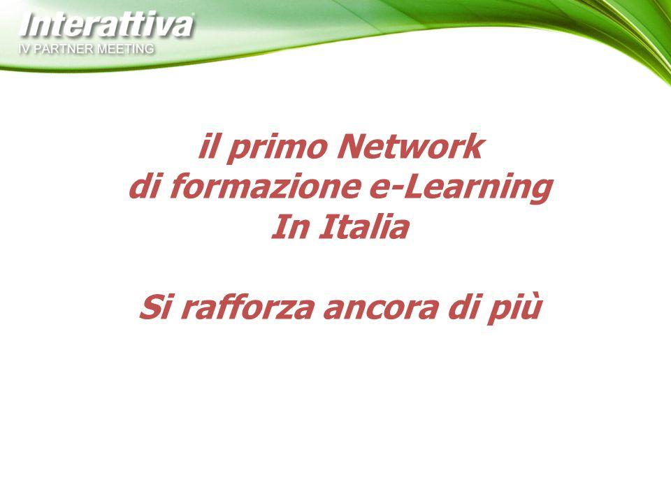 il primo Network di formazione e-Learning In Italia Si rafforza ancora di più