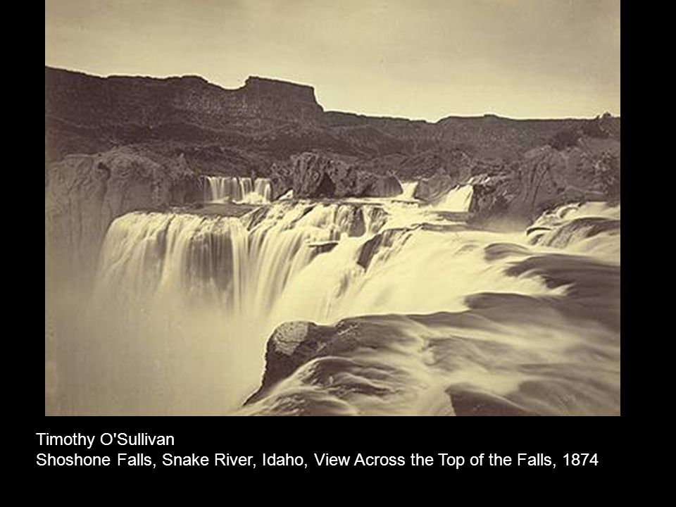 Timothy O'Sullivan Shoshone Falls, Snake River, Idaho, View Across the Top of the Falls, 1874