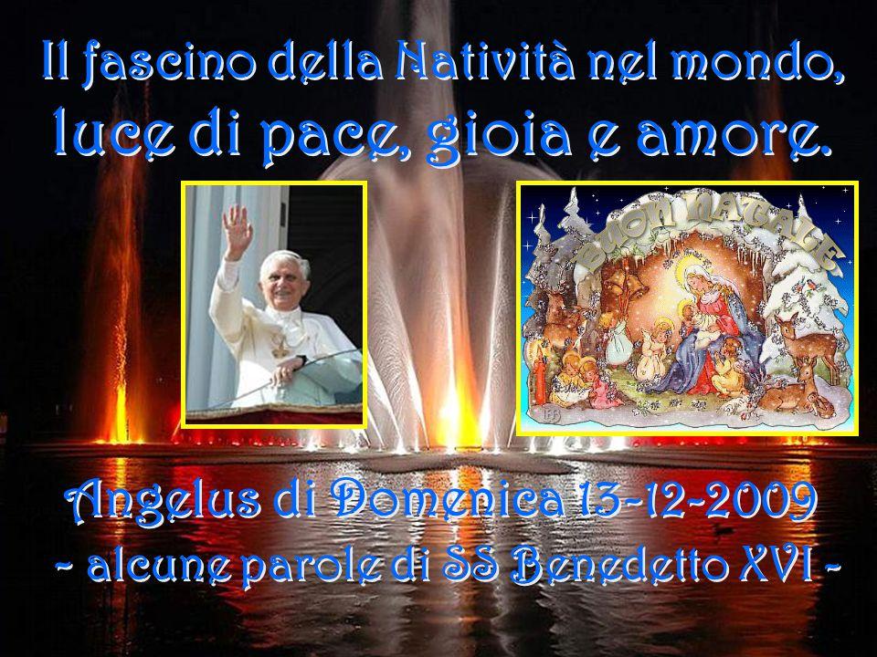 Il fascino della Natività nel mondo, luce di pace, gioia e amore.