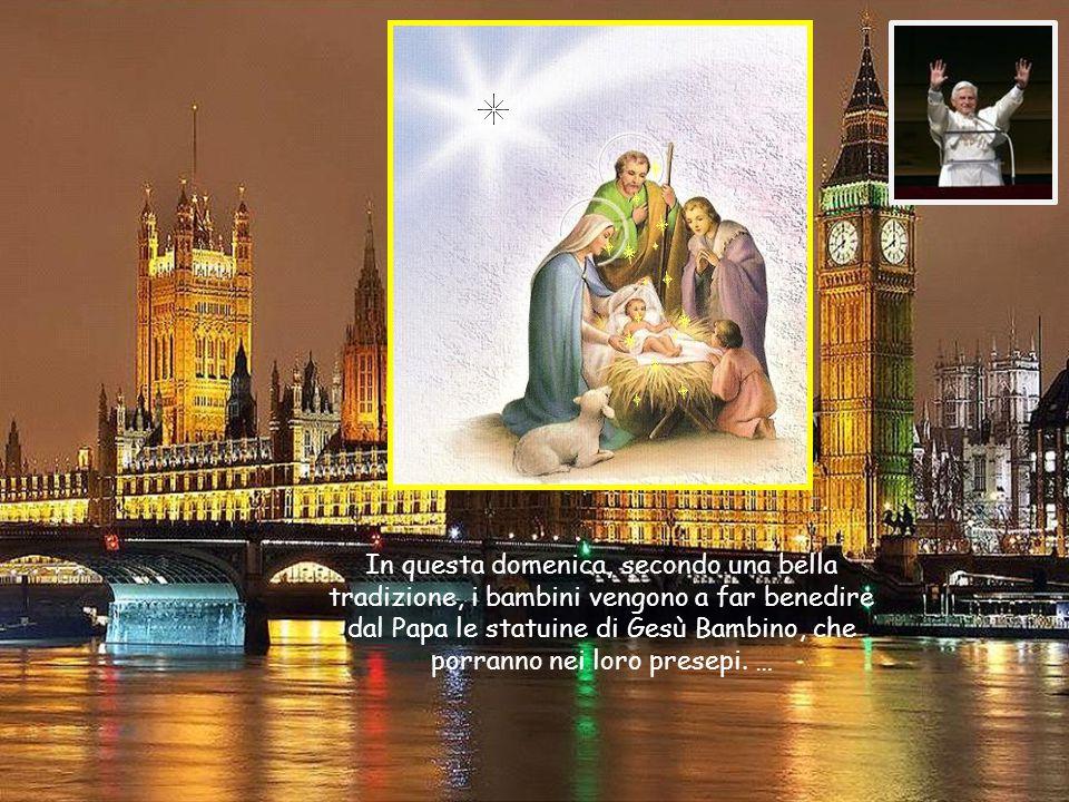 …La madre Chiesa, mentre ci accompagna verso il santo Natale, ci aiuta a riscoprire il senso e il gusto della gioia cristiana, così diversa da quella