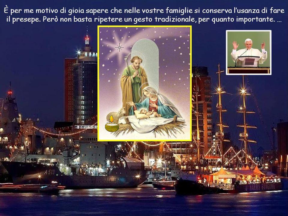 … Ma la fede li aiuta a riconoscere nel bambino avvolto in fasce, adagiato in una mangiatoia , il segno del compiersi delle promesse di Dio per tutti gli uomini che egli ama , anche per loro.
