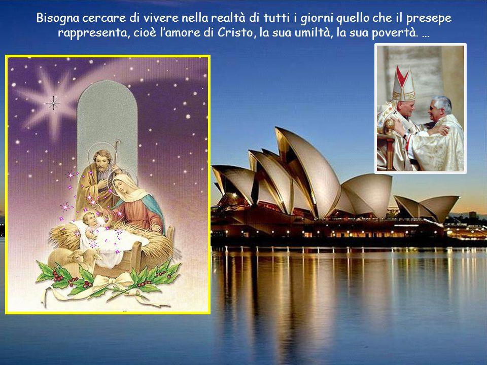 … Ecco, cari amici, in che cosa consiste la vera gioia: è il sentire che la nostra esistenza personale e comunitaria viene visitata e riempita da un mistero grande, il mistero dell'amore di Dio.