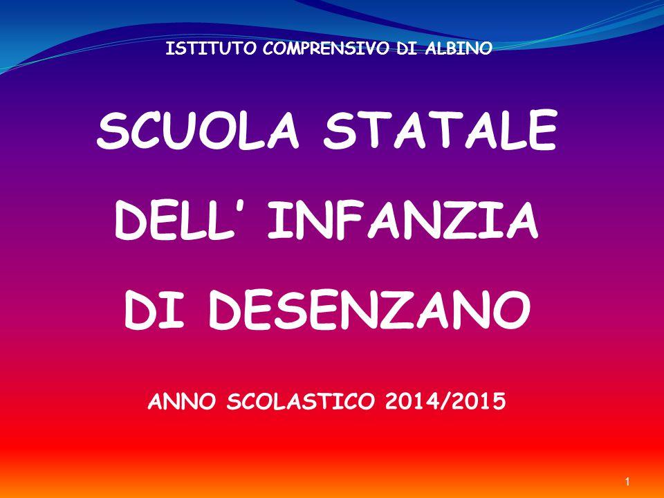 1 SCUOLA STATALE DELL' INFANZIA DI DESENZANO ISTITUTO COMPRENSIVO DI ALBINO ANNO SCOLASTICO 2014/2015