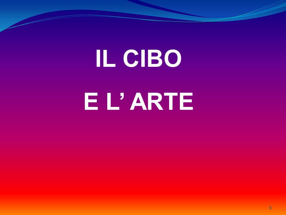 9 IL CIBO E L' ARTE