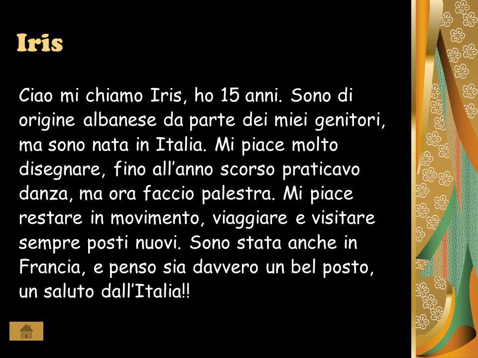 Martina Ciao mi chiamo Martina, ho 16 anni e vivo a Bellaria.