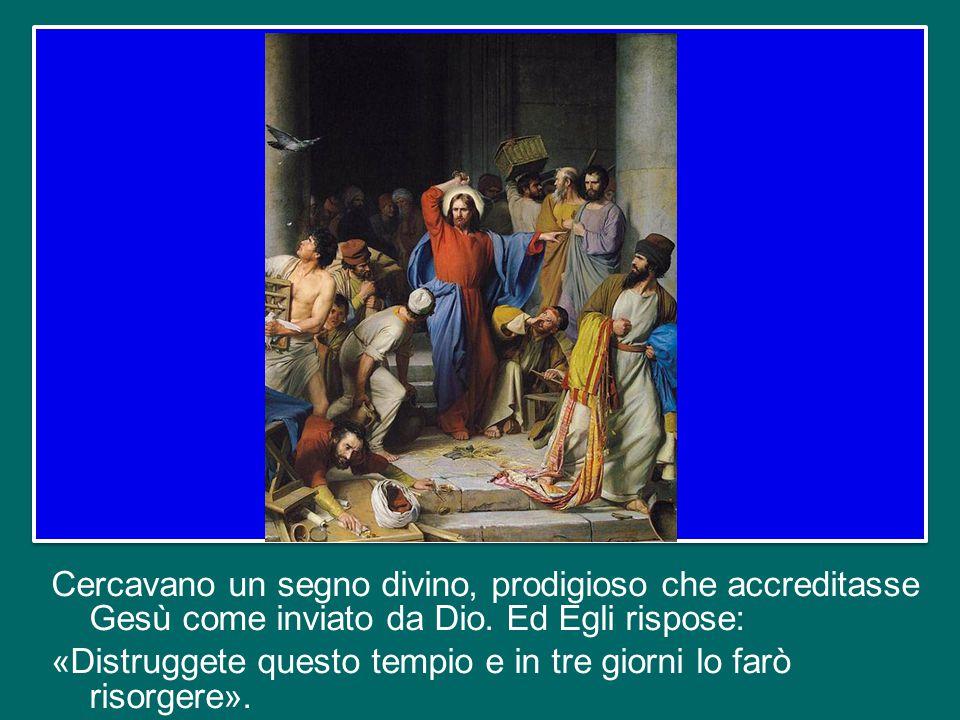 Tale gesto suscitò forte impressione, nella gente e nei discepoli.