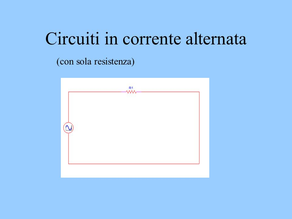 Circuiti in corrente alternata (con sola resistenza)