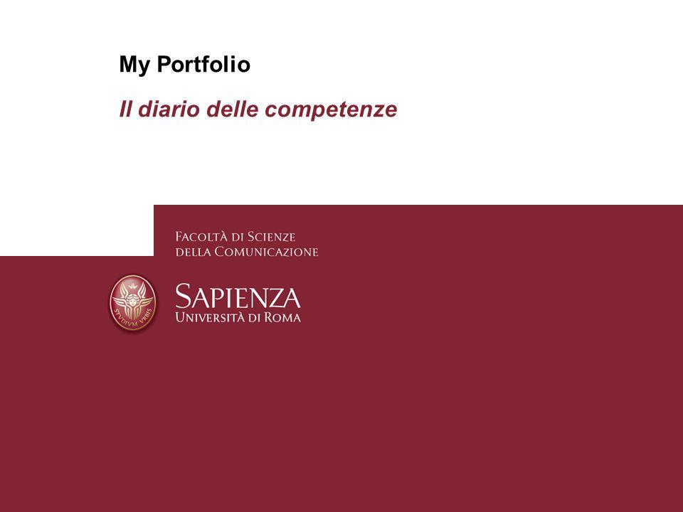 Pagina 1 My Portfolio Il diario delle competenze