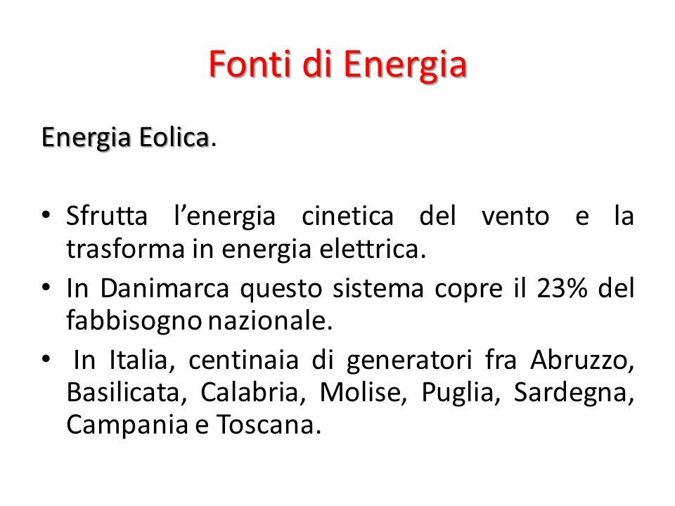 Fonti di Energia Energia Eolica Energia Eolica.